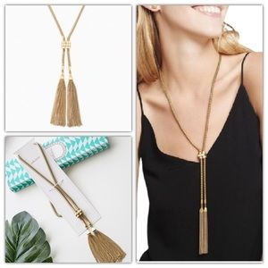 Stella and Dot Jacqueline Tassel Lariat Necklace